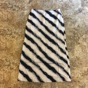 Zebra Striped Maxi Skirt
